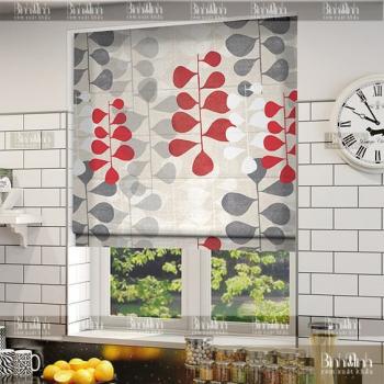 Bộ rèm roman nơi cửa sổ phòng bếp rất xinh xắn đúng không?
