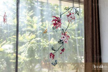 Rèm phòng ngủ cao cấp thêu hoa