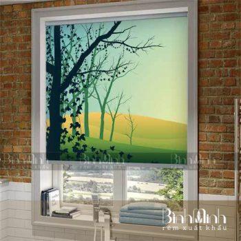 Rèm cuốn tranh - Điểm cộng cho không gian nhà hiện đại