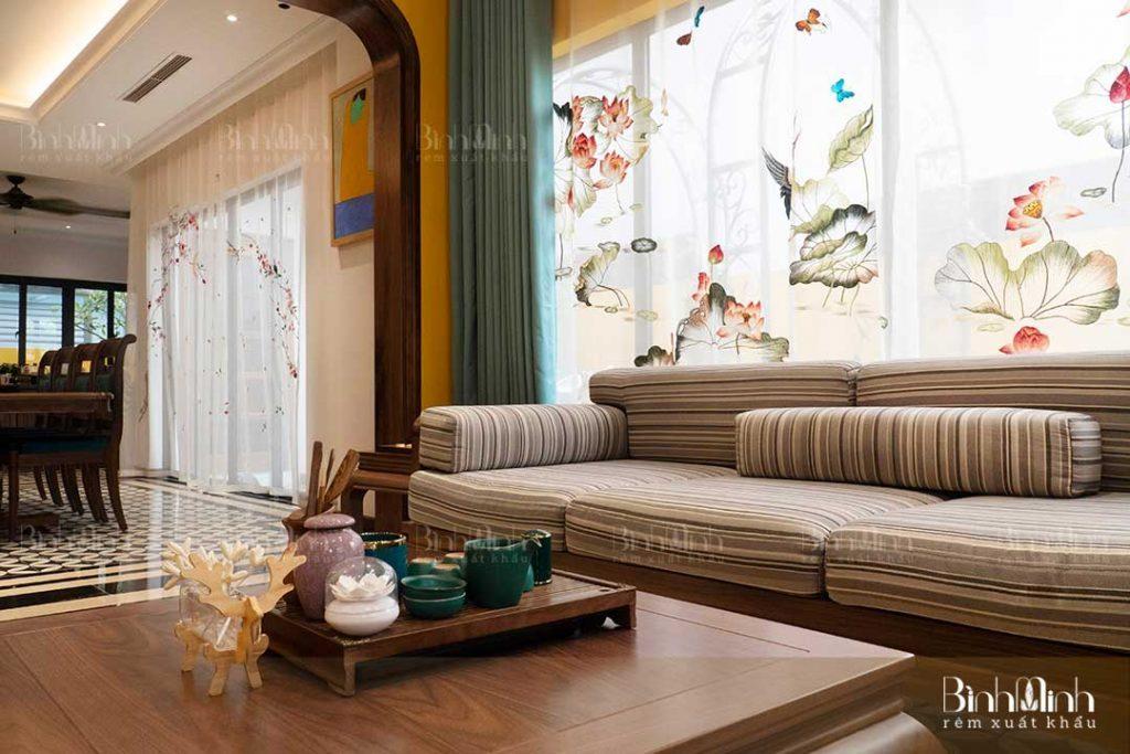 Chọn rèm phòng khách đẹp cần có sự tinh tế và lịch sự