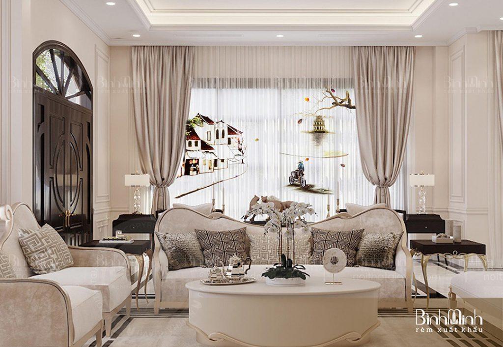 Rèm cửa chung cư cao cấp, thiết kế sang trọng - hiện đại