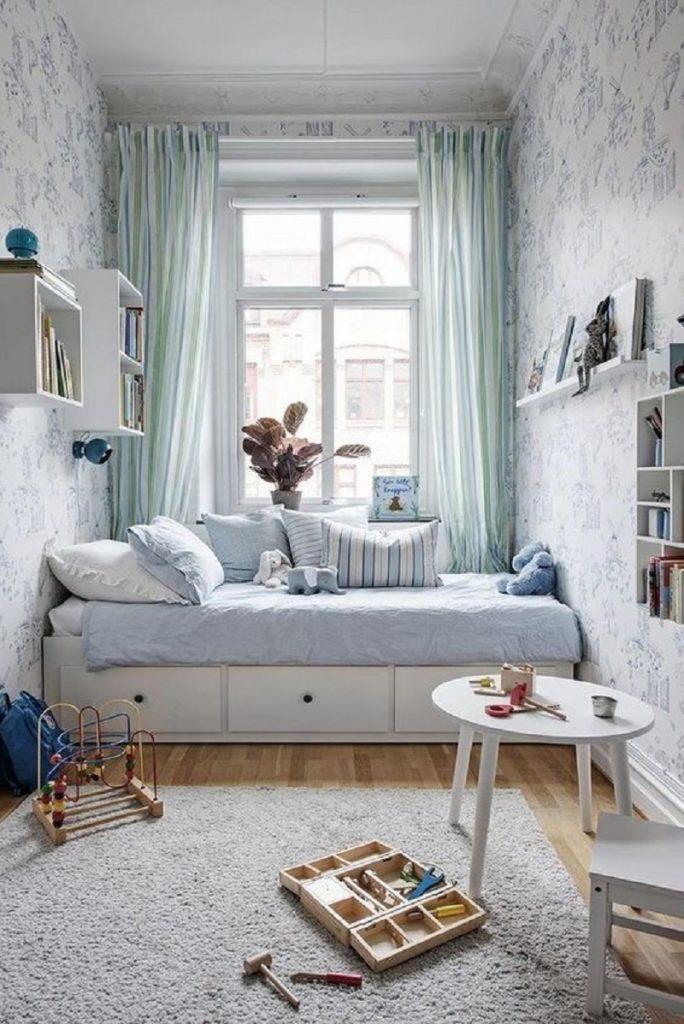 Tổng hợp 3 mẫu hoạ tiết rèm trang trí cho phòng ngủ nhỏ hiện đại