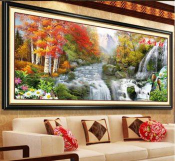 Tổng hợp những mẫu tranh thêu phong cảnh bán chạy năm 2021
